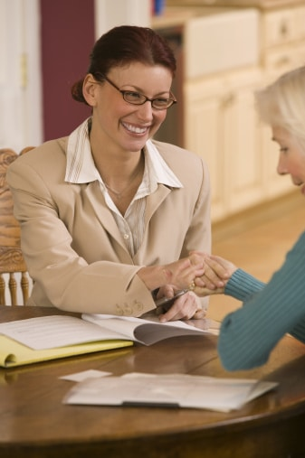 Financial adviser and client