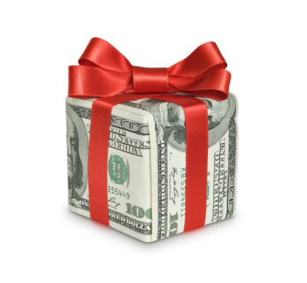 Money with Red Bow - 2018 Gift Tax Exclusion