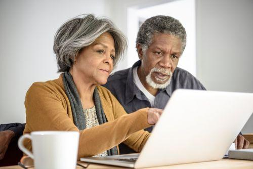 Senior Couple Doing Taxes