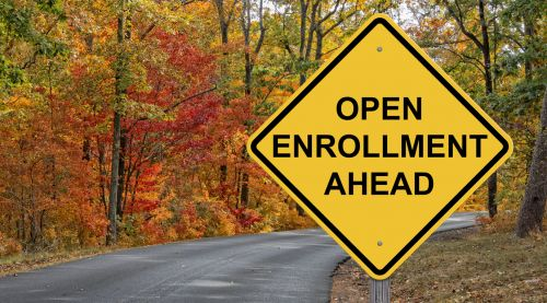 Open Enrollment Road Sign