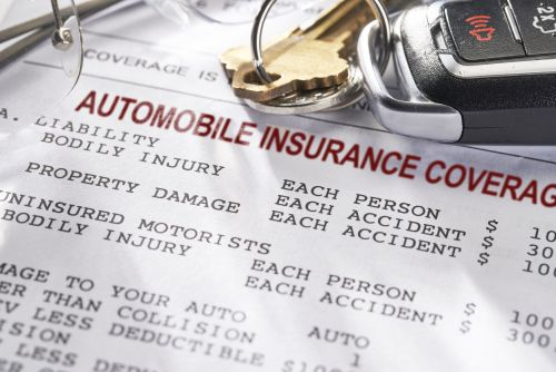 Auto Insurance policy with keys