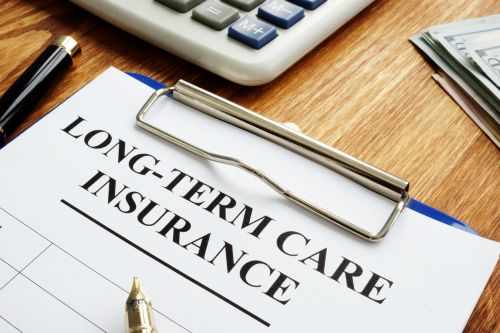 Long-term care insurance application.