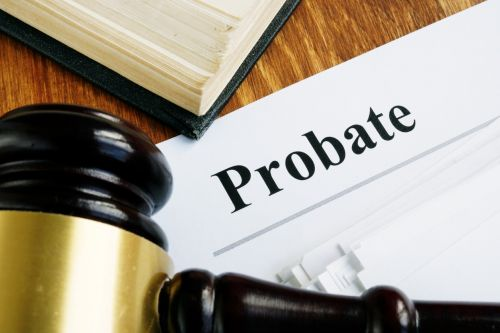 Probate document and gavel