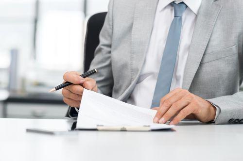 looking through paperwork