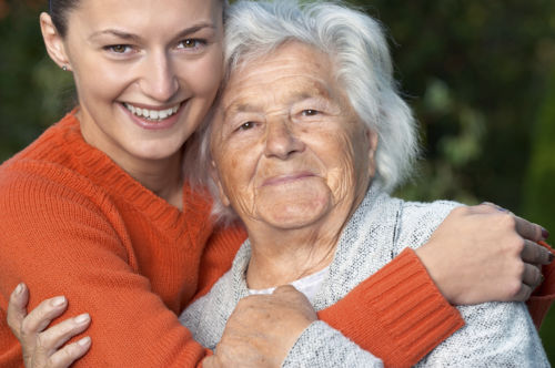 Daughter Hugging Elder Mother: Protections for Nursing Home Residents