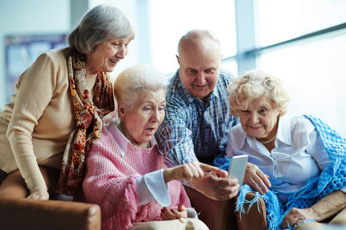 Seniors Viewing App on iPhone