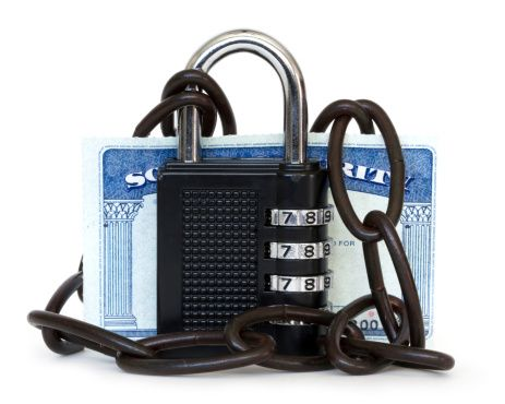 Preventing identity theft: Padlocked Social Security Card